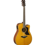 Yamaha A1MVN Folk Cutaway Acoustic Electric Guitar Vintage Natural Finish