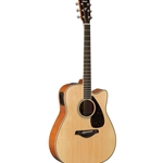 Yamaha FSX Series Small-Body Cutaway Electric/Acoustic Guitar Natural FSX820C