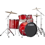 Yamaha Rydeen 5-Piece Drum Set With Double-Braced Hardware & Wuhan 457 Cymbal Pack RDP0F56WWU(RED)