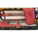4/4 Violin Case Oblong Black With Red Interior CC560-1-BKR