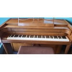 1957 Baldwin Acrosonic Red-Orange Spinet Piano BACROSONIC