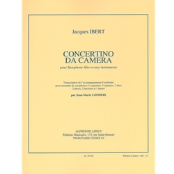 Concertino Da Camera for Alto Sax