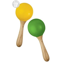 Green Tones Egg-Shape Handle Maracas 3765