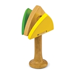 Green Tones Triangle Castanet 3729