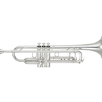 Yamaha XENO Professional Trumpet, Silver-Plate, Standard Leadpipe YTR-8335IIS