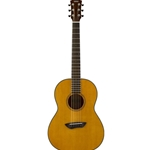Yamaha Vintage Natural Parlor Guitar, Solid Sitka Top, SRT Piezo, Vintage Natural, W/Bag CSF1M-VN