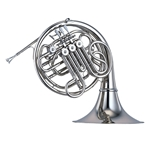 Yamaha Professional Double French Horn, Kruspe-style wrap, Nickel-Silver Plated, Detachable Bell YHR-668NDII