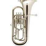 "Besson 4-Valve Euphonium, .580"" Bore, 11"" Bell, Silver-Plated Fnish BE165-2-0"