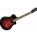 Yamaha APX 3/4 Thinline Acoustic/Electric Guitar, Dark Red Burst APXT2DRB