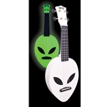 Mahalo Alien Series Soprano Ukulele, Glow in the Dark MC1-ALGGN