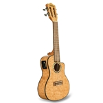 Lanikai Quilted Maple Natural Cutaway Electric Concert Ukulele QM-NACEC