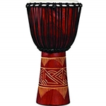 LP World Beat Wood Art Djembe Red/Nat LP713MR