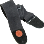 "3"" Heavy-weight Cotton Bass Strap With Suede Ends And Tri-glide Adjustment. Adjustable To 65"". Black Color MSSC4-BLK"