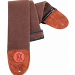 "3"" Heavy-weight Cotton Bass Strap With Suede Ends And Tri-glide Adjustment. Adjustable To 65"". Brown Color MSSC4-BRN"