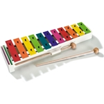 SONOR ORFF Glockenspiel, 13 steel bars (in boomwacker colors), inlcudes mallets, c3-f4 BWG
