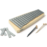 SONOR ORFF Meisterklasse Tenor-Alto Glockenspiel Diatonic, 19 bars, c2-c4, with 2 pairs of mallets TAG19