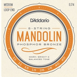 D'Addario EJ74 Mandolin Strings, Phosphor Bronze, Medium, 11-40