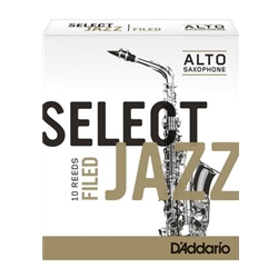 D'Addario Select Jazz Filed Alto Sax Reeds 3 Soft 10 Pack RSF10ASX3S