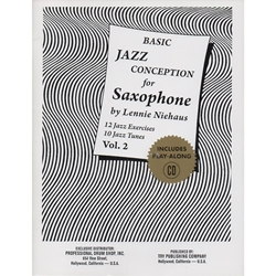 Basic Jazz Conception for Saxophone Niehaus Book and CD
