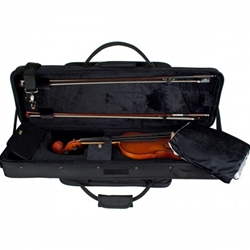 Protec Deluxe 4/4 Violin ProPac Case Black and Blue PS144DXLB