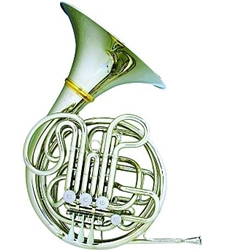 Hans Hoyer F/Bb Double French Horn With String Linkage & Detachable Bell Nickel-Silver HH6802NSA-1-0