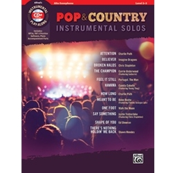 Pop & Country Instrumental Solos for Alto Sax with Book & CD