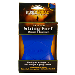 Music Nomad String Fuel, All-In-One Cleaner & Lubricant W/Microfiber Cloth MN109