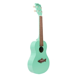 Makala Satin Finish, Shark Bridge Surf Green Concert MK-CS/GRN