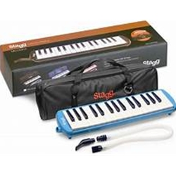 Stagg Blue Plastic Melodica w/32 Keys and Blue Bag MELOSTA32 BL
